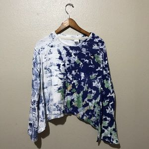 Anthropologie Paint Splatter Top Size XS